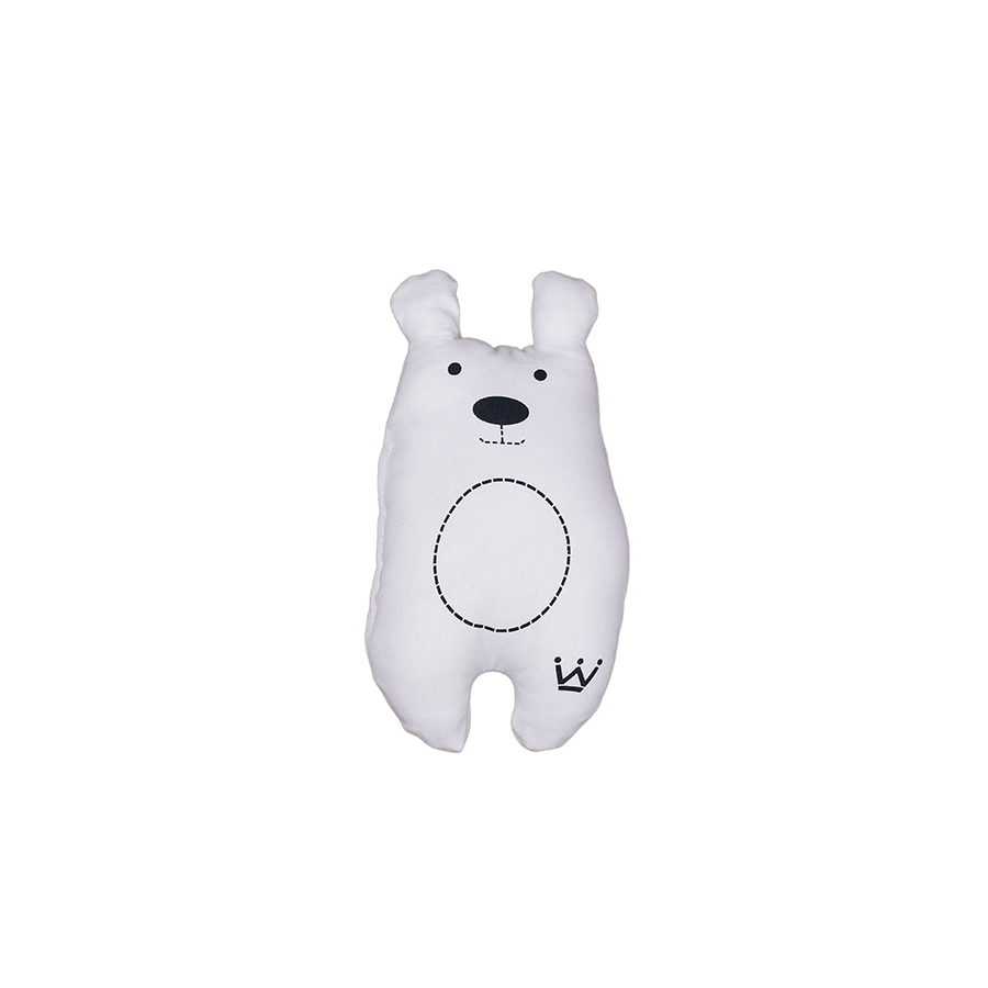 Mini Almofada Sarja Bear