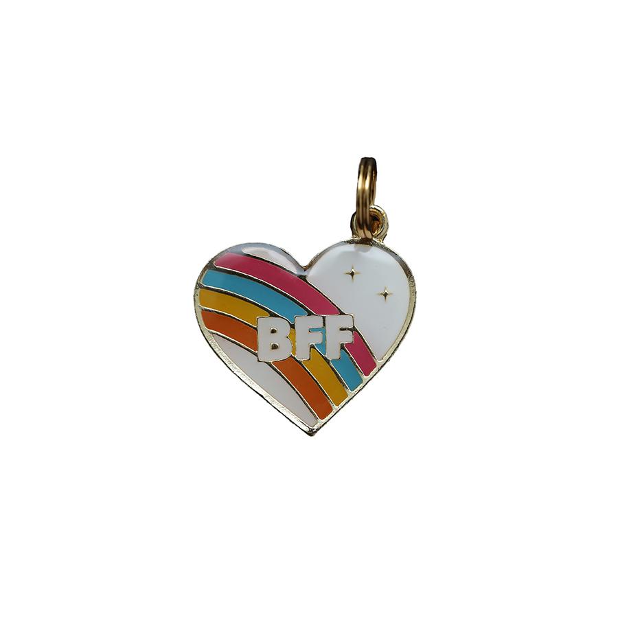 Pingente Esmaltado Coração BFF