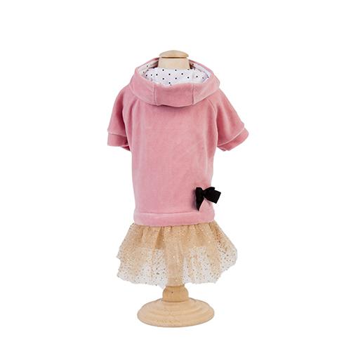 Vestido Saia Plush/Tule c/ Capuz